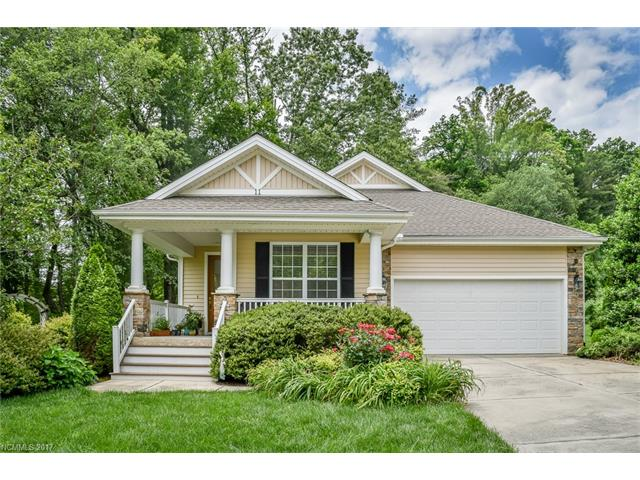 Light and open, split bedroom plan.  Features great room w/fireplace, two sets of glass doors open to covered deck, kitchen w/breakfast area, formal dining room, bonus room w/french doors & closet - perfect for den or office, tiled entry, separate laundry room w/ 9' ceilings throughout.  Two bedroom septic permit (septic w/pump).  Portion of property located in flood plain.  Ideally located between Brevard & Hendersonville.