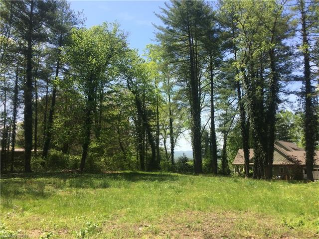 Level lot, mostly cleared, Has mature trees and possible long range views.  Cul de-sac lot in upscale private gated neighborhood. Access to the French Broad River for canoeing and fishing.  This is a rare find in that it is level and ready to build.