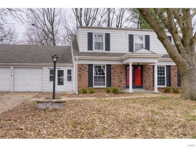 Fantastic opportunity to purchase a 2 story, 4 bedroom, traditional home located in the much desired neighborhood of Bellerive Estates. Countless improvements have been done to this home including refinished hardwood floors, new paint throughout (2017), updated bathrooms (2017), new gutters (2017), new patio and walkway (2017). This home additionally offers a master bedroom suite, formal dining room area, formal living room as well as family room. Home is located near all the conveniences of Olive Blvd and close to hwys 40 &270. Schedule your private viewing today!