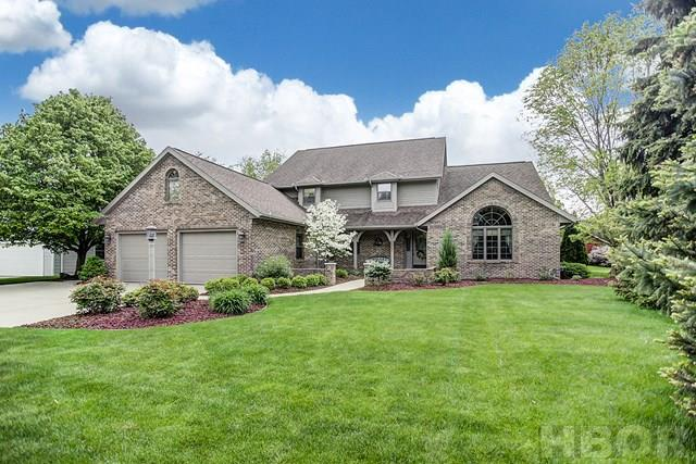 """A Rooney & Associates listing. Contact Cheryl Sterling at 419/722-8991. Quality built """"Vorst"""" home. Remodeled in 2013 by """"Garlock Bros."""".  Beautifully landscaped property with irrigation system. Large living room with gas fireplace, built-ins with lots of storage, coved ceiling & surround sound. Fully remodeled eat-in kitchen features solid hickory custom cabinets, granite counters, new stainless steel full refrigerator & full freezer, walk-in pantry. Kitchen opens to remodeled family room with large windows that bring the outside in. Oversized laundry/craft room with lots of cabinetry. Study/office features vaulted ceiling & nice built-ins. Main floor master suite with walk-in closet, bath with vaulted ceiling, His & Hers vanities, heated floor tiles, whirlpool bath, shower & skylight. 4 large bedrooms upstairs with Jack & Jill baths. Walk-in attic off NW upstairs bedroom. Partial finished basement with family room, game room, mirrored exercise room & 2 large storage rooms."""