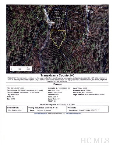 Lot 195 Upper Whitewater Road, Sapphire, NC 28774