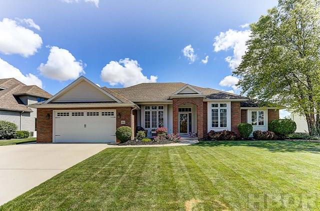 ROONEY & ASSOCIATES REAL ESTATE LISTING.  Contact Kim Cameron at (419)306-7823 or Brian Whitta at (419)701-4040.  Extra nice ranch home in Forest Lake.  Great floor plan with neutral decor.  Great room showcases a gas fireplace and high ceilings with crown molding.  Eat-in kitchen is open to the great room and offers ample cabinets, granite counter tops and stainless steel appliances.  Spacious master bedroom with walk-in closet and private bath.  Beautiful 3-season sun porch over looks the lovely fenced back yard.  Irrigation system keeps the lawn green all summer long!  Finished basement with family room, extra room and plenty of storage.  Many updates including: 2014 - GFA high efficiency furnace & A/C; 2013 - HWH; 2009 - 3-season sun porch, dishwasher; 2008 - range, refrigerator.
