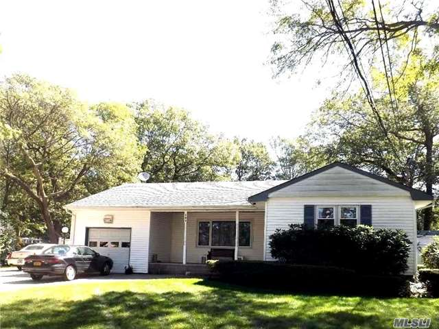 Large Ranch Featuring: Flr,Den,Eik,5Brms,3Fbths,Laundry Rm,1.5 Gar, Ffbt W/Unfinished Area W/ A Garage Door Into Basement (Perfect For A Mechanic/Car Collector)Extension In 1978,Updates:New Roof,Eik W/Ss Appl & Soft Close Cabinets,Propane Gas Stove,50G Sep Wh,Oil Heat W/2 Separate 275G Tanks Ag, Entertaining Yard W/20X40 Igp, Professionally Landscaped. Too Much To List!