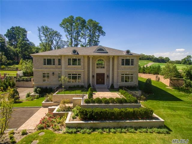 Luxury New Construction In Roslyn Harbor On One Acre Parcel Backing To Picturesque Golf Course. This Magnificent Home Offers Exquisite Design And Incredible Architectural Detail Throughout.