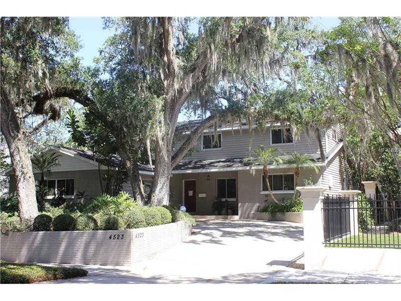 OPPORTUNITY IS HERE IN TAMPA'S ORIGINAL BEACH PARK! Near International and Westshore Malls, I-275 and TIA, fine dining and more.  Spacious 2-story home opens to large living area for family fun and/or entertaining. Formal dining area just off the large gourmet kitchen overlooks the family room.   Upstairs: Master suite has it all! Seating area, 2 walk-in closets, bonus room for study/work-out room, oversized shower, soaking tub, and pedestal sinks.  Completing the 2nd floor are 2 large bedrooms (one without a closet) which share a bath and a 4th bedroom with en suite bath.  