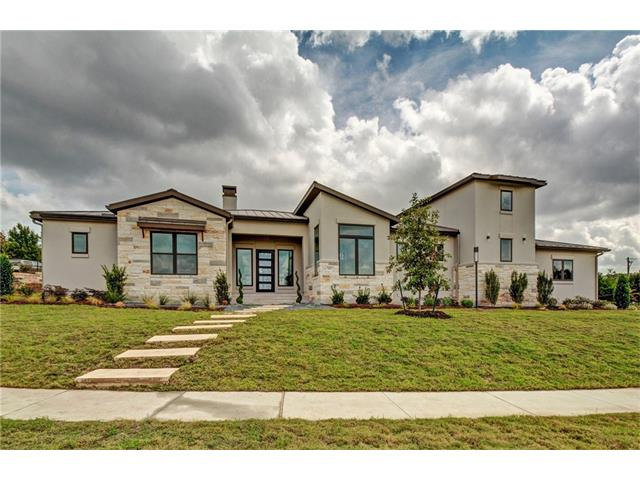 Stunning new construction in the gated Flintrock Falls Country Club Community. Each sf of this one story home was thoughtfully & efficiently planned. Located on corner cul-de-sac lot with private feel, complete with large outdoor living with bath access, 2 garage spaces, 1 golf cart bay & huge 2nd floor walk up storage space. Tour at frame stage to see quality of craftsmanship & high standards of builder. Interior selection sheets are on display in the home so buyers may see planned finishes.