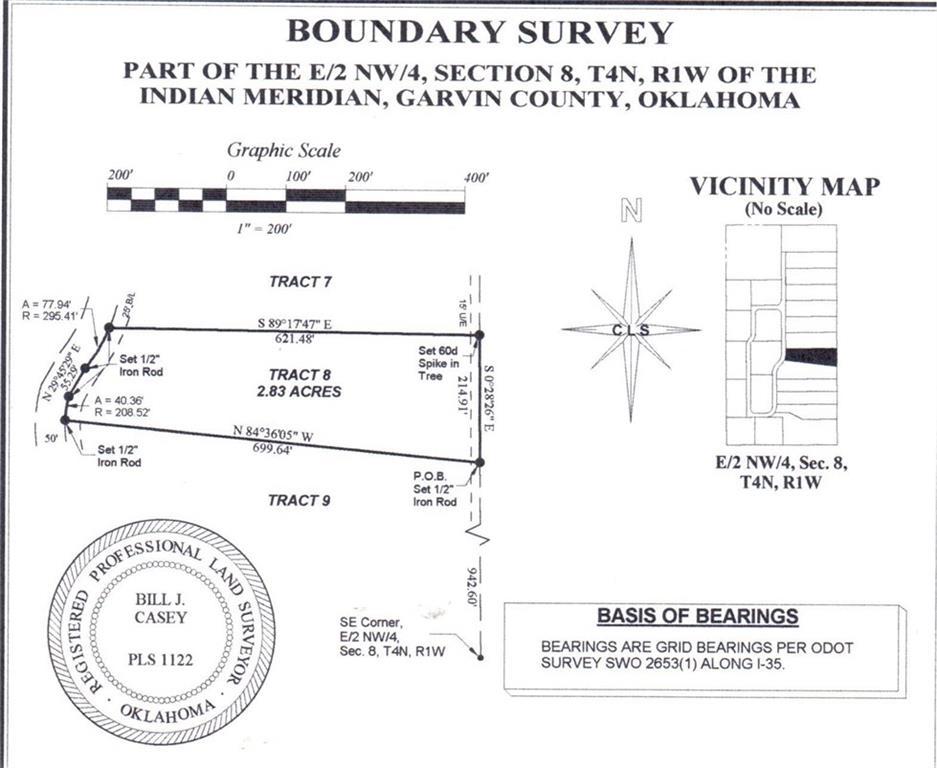 N County Road 3183 (Tract 8), Paoli, OK 73074