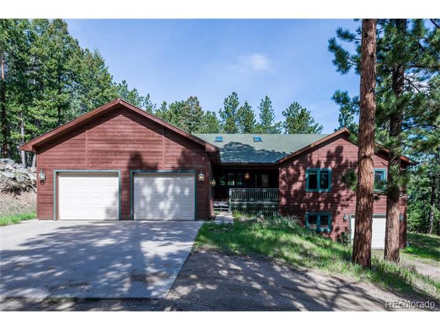 QUALITY* Mountain Custom ranch ONE LEVEL LIVING, energy efficient gas radiant heating, Master Suite with walk-in closet and 5 piece bath, Quality home with distinct upgrades, vaulted ceilings, gas fireplace, spacious Gourmet kitchen with design flair, wet bar, breakfast nook, center island, appliances, and separate dining room, hobby room on lower level is partially finished with a 1/2 bath,  spacious office workshop or could be a mother in law*access is through the garage* extra useable sq.footage and 3 car garages.  Blank canvas to Make this your own * Trex Decking*Water shares in Burland Meadows* Nice Wooded Private setting*RV Parking* Easy access
