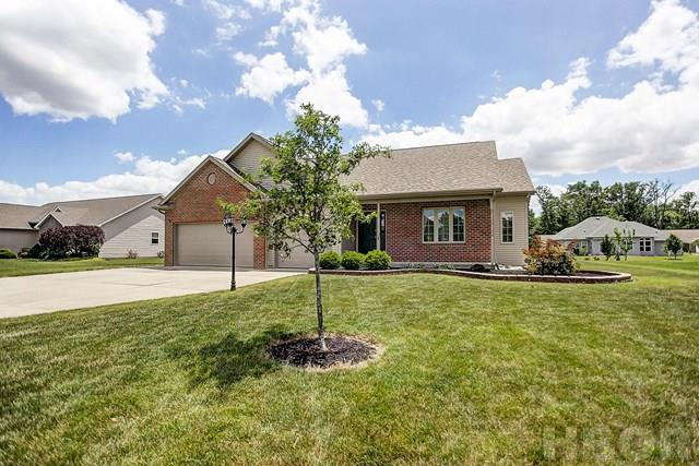 ROONEY & ASSOCIATES REAL ESTATE LISTING.  Contact Kim Cameron at (419)306-7823 or Brian Whitta at (419)701-4040 for additional information.  Like new ranch in Hillcrest Estates with a 3-car garage! Open floor plan.  Spacious great room features a vaulted ceiling and gas fireplace.  Kitchen offers maple finish cabinets and newer stainless steel appliances.  Spacious master bedroom with private bath and walk in closet.  Partial finished basement.  Composite deck and paver patio overlooking the nicely landscaped yard. First American Home warranty with an acceptable offer.