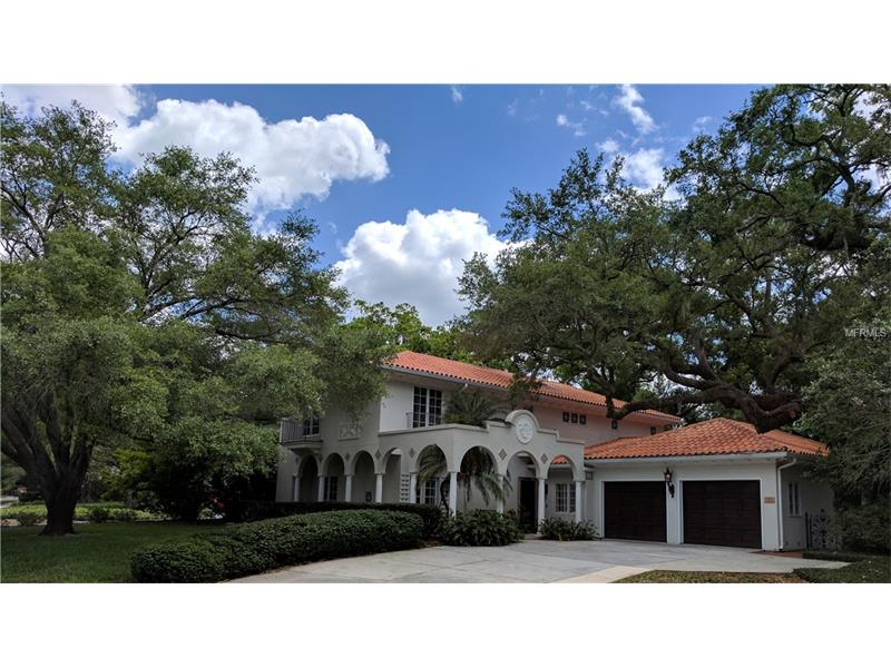 Architect's own Aurora Award winning custom home in the Mediterranean Revival style on an oversized corner lot on the coveted Swann Circle. The home is a showpiece of acclaimed architect Leon Goldenberg's work.