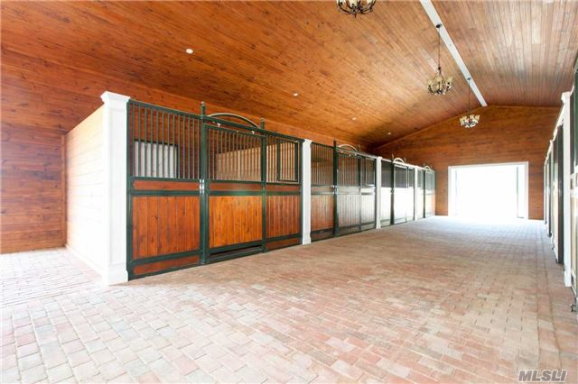 Equestrian's Dream With 12-Stall, Full-Service Barn Featuring Hot-Wash Stall, Tack & Feed Rooms, 1/2 Bath, Office And Loft, 3 Expansive Paddocks, Jumper Ring, Gazebo And Acres Of Natural Trails. The Manor House Offers Formal Living And Dining Rooms, Expansive Eik, Den, Office, Laundry Up/Down, Master Suite, Junior Master Suite, 2 Additional Full Baths And Powder Room.