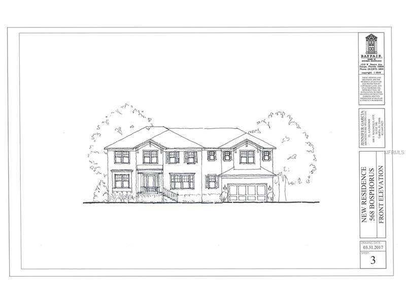 Pre-construction.  To be built.  That coveted Davis Island lifestyle can be yours in this gorgeous new-construction home by one of Tampa Bay's premiere home builders.  This amazing lot is located on a wide, sweeping curve of the pretty and active Currituck Canal with access to the Bay.  You'll enjoy all that waterfront-living has to offer, including gorgeous nightly sunsets from your west-facing backyard oasis.  Families will love this spacious floor plan which includes 5 upstairs bedrooms, 1 downstairs bedroom and 6.5 baths.  This well-thought out plan highlights Davis Island living with a huge outdoor living space, golf cart storage, and boat storage.  It also features a large bonus room and laundry on the second level.  Enjoy the Bayfair finishes you would expect including cased openings, crown moldings, outdoor grill area, professional appliances and much more. Custom home with ability to make changes to the plans and specifications.  Located in the wonderful Gorrie, Wilson, and Plant school district.