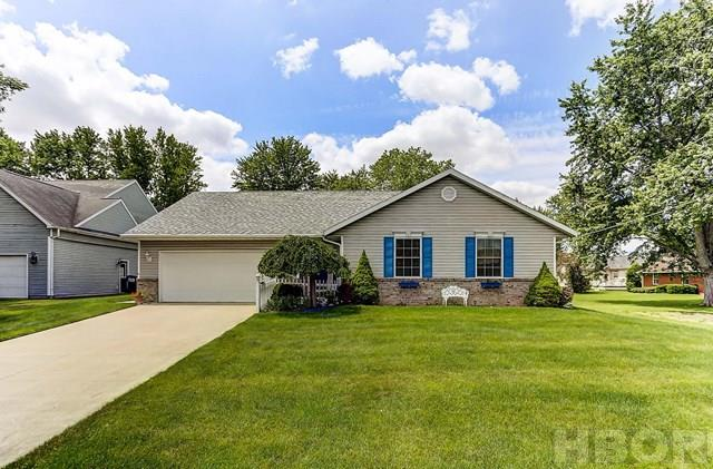 A ROONEY & ASSOC. LISTING - Contact Brian Whitta (419-701-4040) or Kim Cameron (419-306-7823) to schedule your personal tour of this beautiful ranch home. White painted woodwork, a gorgeous custom kitchen with quartz counters, laminate flooring, a gas fireplace, updated bathroom with tile shower, and a massive utility room! WOW! Full 3D Tour and additional photos are COMING SOON, but don't delay seeing this one! (Only the shed is in the flood plain - house is not, per the City of Findlay Floodplain Administrator.) Wall mounted shelving in the dining room does not stay.