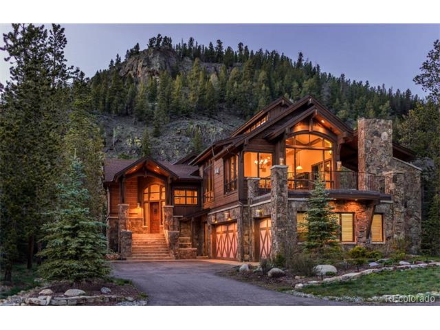 Spectacular mountain elegance within walking distance to Keystone River Run village. This beautifully maintained home is finished with stone and wood flooring, 4 fireplaces, custom cabinetry, gourmet kitchen and Sub-zero/Wolf appliances. The floor plan features an open great room, covered deck with a large patio to enjoy to views of the ski area. Additional features: I pad controlled Bose sound system, security cameras, oversize 3 car garage. Walk to skiing, dining and activities in River Run.