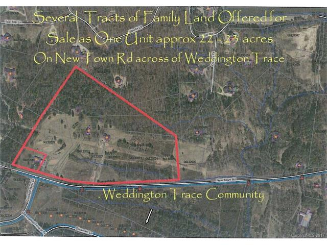 22.63 New Town Road 7 independent tracts, Weddington, NC 28173