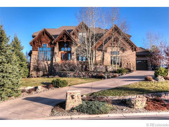 Extraordinary Custom Built Estate*Gorgeous Views of Pikes Peak, Long's Peak and Downtown Denver*Absolutely Best Yard In Amber Ridge Featuring Built in Wood Burning Fireplace, Serene Water Feature, and Plenty of Room for Kids or Pets to Run & Play*All Backing to Daniels Park Open Space-Watch for the Buffalo Out Your Back Yard*Main Floor Master is a Retreat All in Itself*Architectural Details include Ceiling Cross Beams, Alder Wood Trim, Vaulted Ceilings & Much More*Chef's Dream Kitchen will Leave you Stunned with Gorgeous Slab Granite, High End Appliances & Cozy Hearth Room*Upstairs has 3 Bedrooms & Gorgeous Loft Area with Built-In Desk/Shelving*Finished Basement Includes 2 Additional Bedrooms with Jack N Jill Bath-Private Sinks*Large Rec Room & Kitchen To Entertain Any Size Party! 4 Car Garage*Pool Community*Easy Access to Fabulous Trails Throughout Castle Pines*Douglas County Schools*Will Not Disappoint*